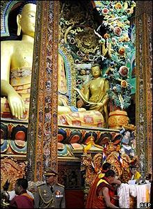 New King Jigme Singye Wangchuck on his throne