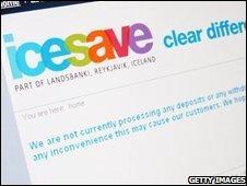 Icesave website