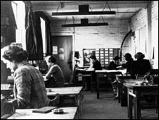 Hut 6 during wartime, Bletchley Park Trust