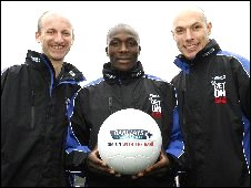 Mike Riley, Nyron Nosworthy and Howard Webb