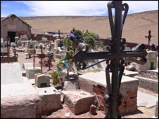 The graveyard in San Vicente