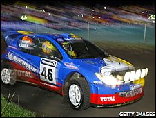 Valentino Rossi driving in 2002