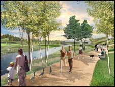 Artist impression of Olympic Park