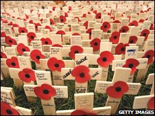 The Fields of Remembrance at Westminster Abbey
