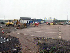 Lorry park site