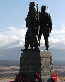 Commando memorial. Pic: Undiscovered Scotland