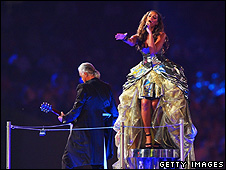 Leona Lewis and Jimmy Page at the Olympics