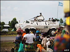 UN peacekeepers north of Goma, 5 November 2008