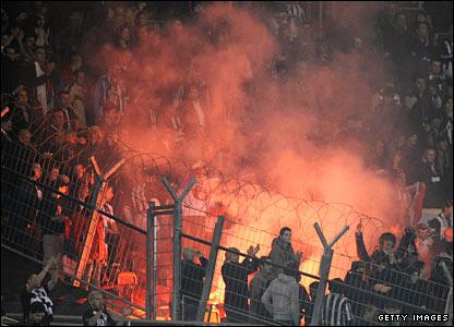 Partizan Belgrade supporters