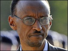 Rwandan President Paul Kagame (April 2008)