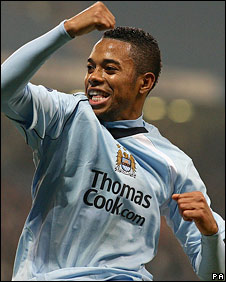 Robinho's spectacular strike was his seventh goal of the season