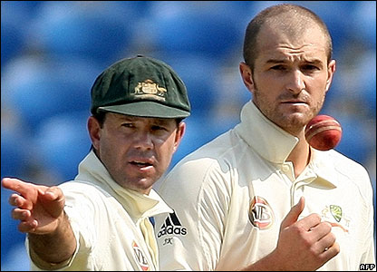 Ricky Ponting and Jason Krejza
