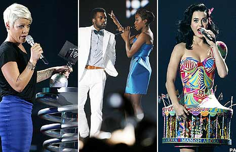Pink, Kanye West, Estelle and Katy Perry