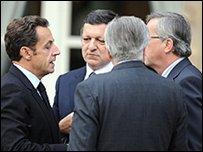 ساركوزي مع قادة اوروبيين
