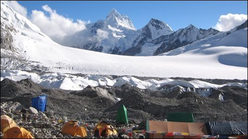 Base camp at Nangpa Pass