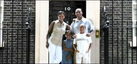 Black family at Downing Street