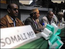 Somali MPs at the Nairobi summit