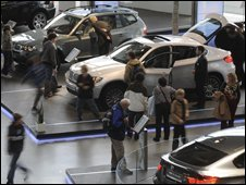 BMW car showroom visitors