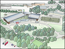 An artist's impression of the proposed ice rink at Kings Park