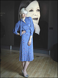 A model wears one of Jean Muir's dresses (Pic: Sandy Young)