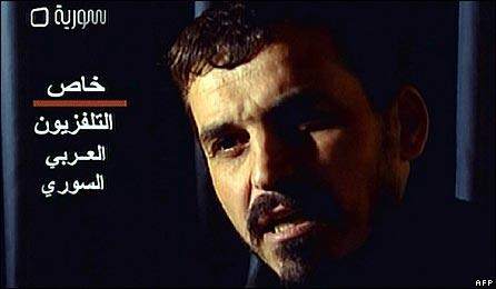 Alleged Fatah al-Islam militant Abdul Baqi al-Hussein on Syrian TV
