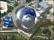 Artist's impression of Center for Human Dignity, Jerusalem (Image: Wiesenthal Center)