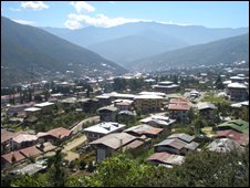 Thimpu, the capital of Bhutan