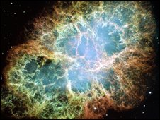 Crab nebula, Nasa