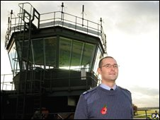 Radar controller Richard Eggleton at RAF Linton-on-Ouse
