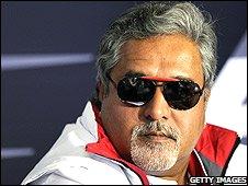 Force India co-owner Vijay Mallya