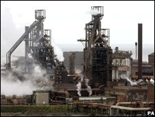 Corus steelworks in Port Talbot