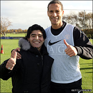 "And Rio Ferdinand, celebrating turning 30, says: ""To be able to shake his hand, get a"