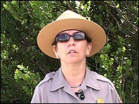 María Thompson, guardaparques del Parque Nacional Everglades