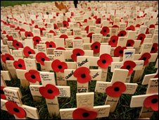 Royal British Legion's Field of Remembrance at Westminster Abbey