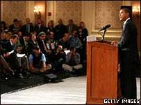 Барак Обама на пресс-конференции в Чикаго