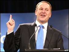 John Key makes acceptance speech