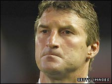 England coach Tony Smith watches his team lose to New Zealand