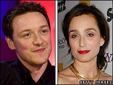 James McAvoy and Kristin Scott Thomas