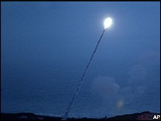 US missile interceptor test (file pic)