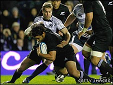 Piri Weepu scored New Zealand's second try