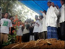 Funeral of Bali bomber Imam Samudra in Serang, Java