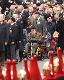 Veterans at the Cenotaph