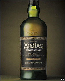 A bottle of Ardbeg Uigeadail