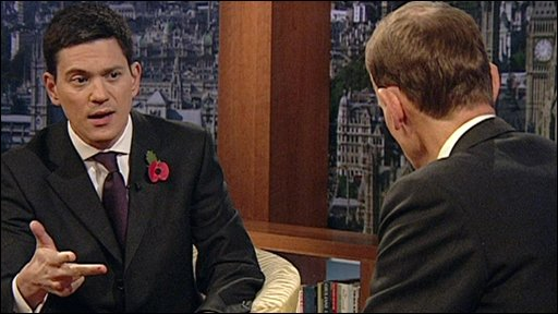 David Miliband with ANdrew Marr