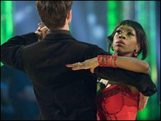 Heather Small dancing with Brian Fortuna