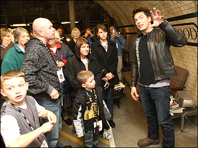 Torchwood star John Barrowman was on hand to explain how the magic is weaved to create the series