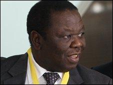 Morgan Tsvangirai at the summit in Johannesburg on 9 November 2008