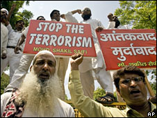 Muslims in India protest against terrorist attacks (File picture)