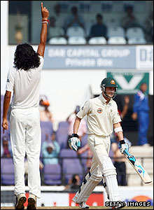 Ishant Sharma and Michael Clarke