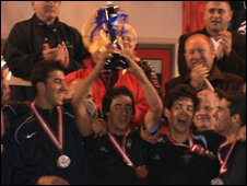 Madeira celebrate victory